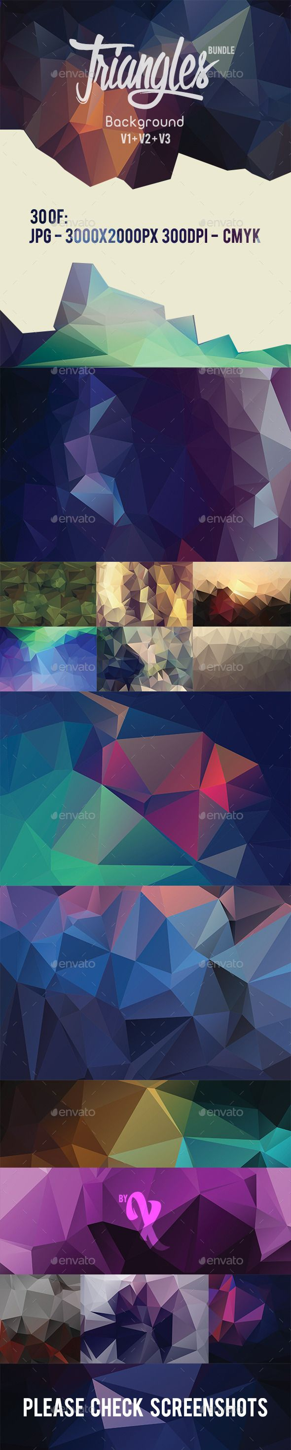30 Triangles Background Bundle by Axoa 30 Triangles Background Bundle30 prefect triangles background,sample and in high resolution File Features: 30002000px, 300 DPI, C