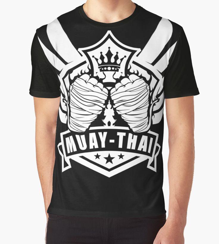 Muay Thai Wing of The Winner  -Thailand Martial Art T-shirt  by lu2k