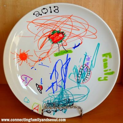{New Year's Tradition} Design a Plate with Sharpies