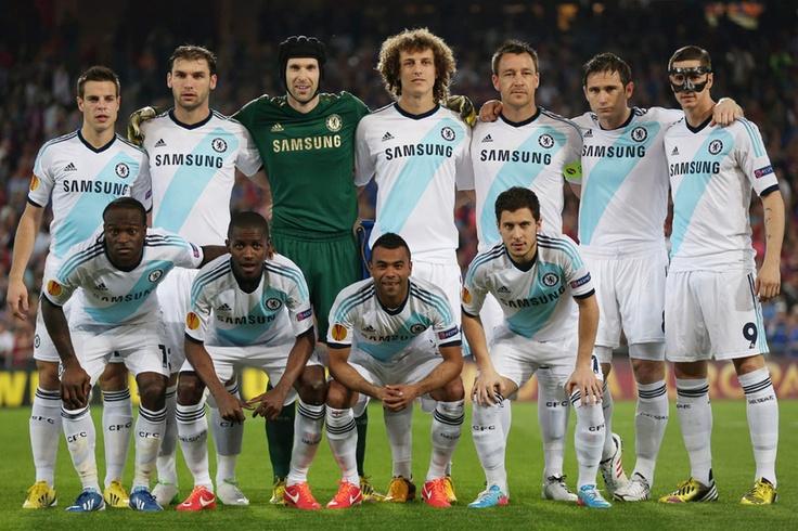 FC Basel 1-2 Chelsea - the Blues lineup