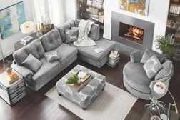 Value City Furniture® Cordoba 2-Piece Sectional + Cocktail Ottoman from Value City Furniture $999.98 (23% Off) -