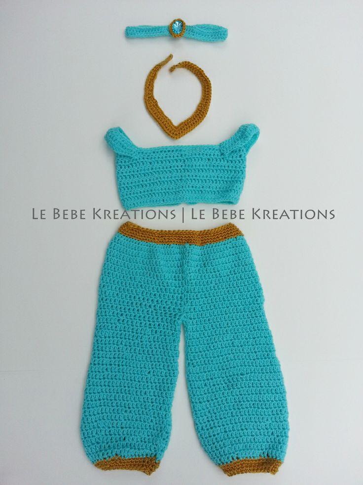 Image of Crochet Jasmine Costume