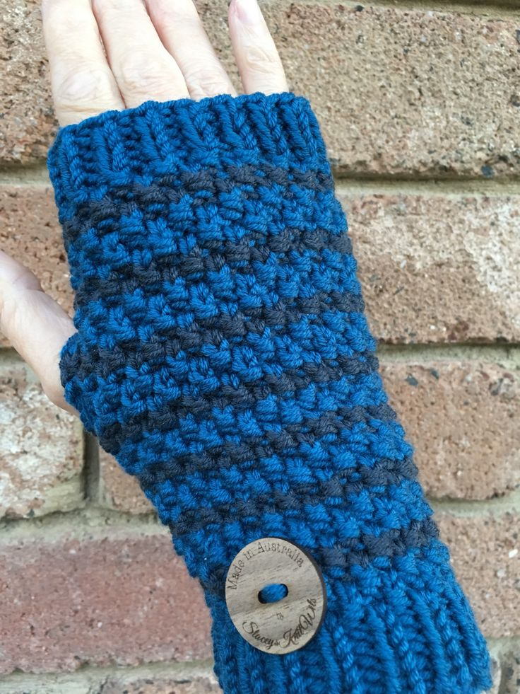A personal favourite from my Etsy shop https://www.etsy.com/au/listing/586279722/knitted-blue-handwarmers-grey-fingerless