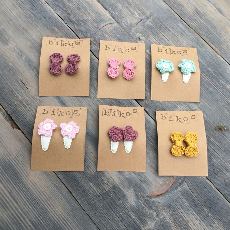 Superleuke gehaakte haarspeldjes www.bikoswear.com