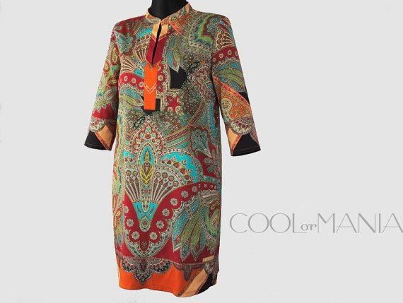 Silk Dress  Etro Milano Silk Fabric   Multicolor by COOLorMANIA