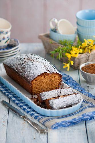 plumcake alle mandorle e confettura d'arancia–almond plumcake with orange jam