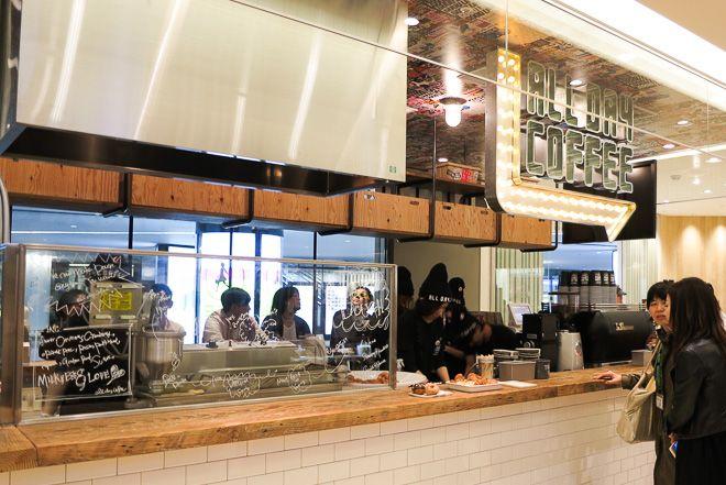 グランフロント大阪にコーヒースタンド「オールデイコーヒー」新食感ドーナツ提供   Fashionsnap.com