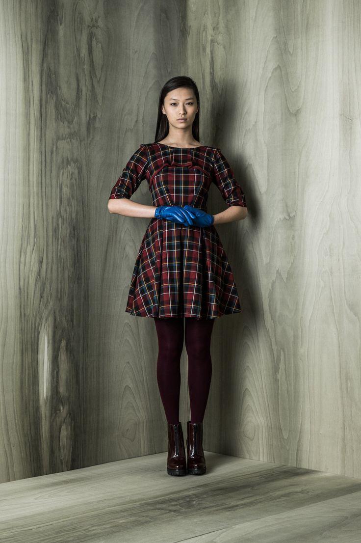 Sherwood dress, plaid, A line, with side pockets