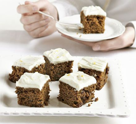 The ultimate makeover: Carrot cake - This recipe is incredible! I usually ice with a mixture of soft cheese, fromage frais and pecan nuts. NOM!