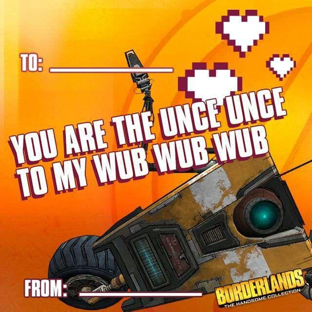Borderlands Valentines Day Card My Nerdy Side Borderlands