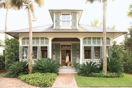 Pretty sure I've had actual dreams about this house | beach bungalow - like the landscaping!