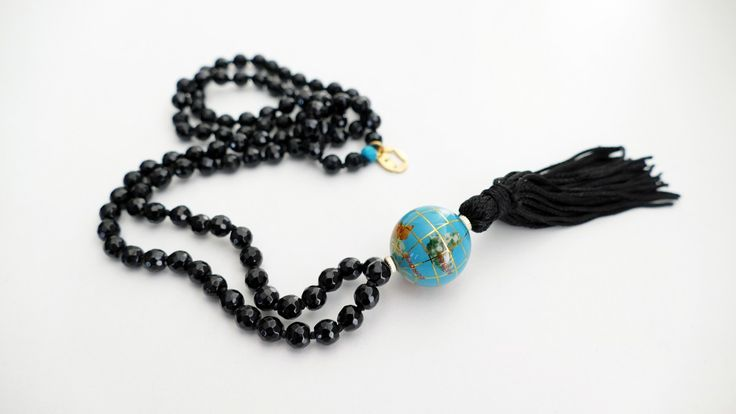 Rosary with black Οnyx and globe from Τurquoise -Price:72€