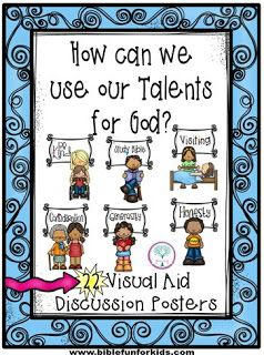 Parable of the Talents post includes these Application Posters that can be used for a lot of lessons!