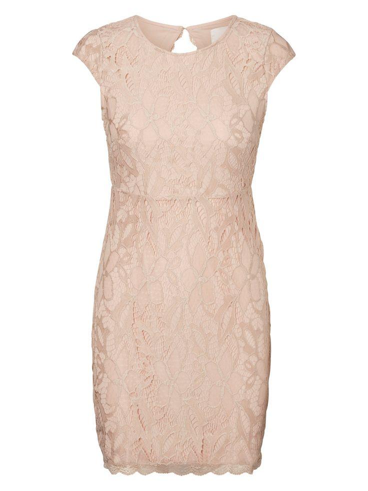 VERO MODA rosa dust lace dress