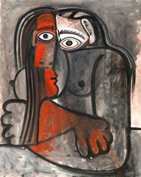 Pablo Picasso, nu bras croisés on ArtStack #pablo-picasso #art