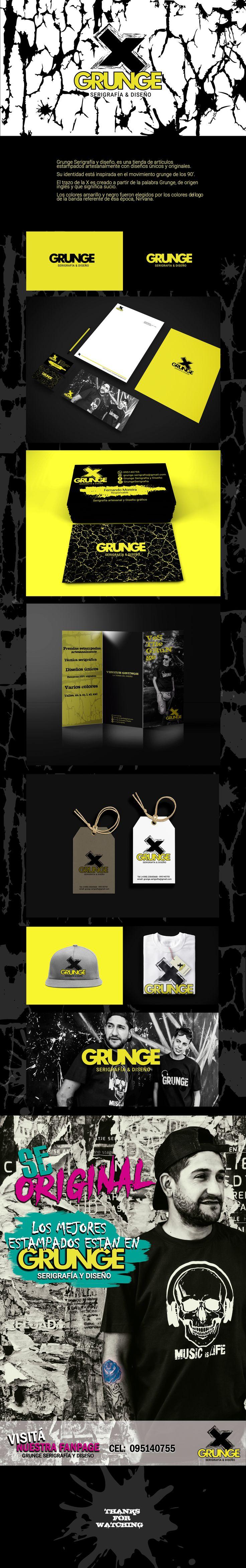 "Echa un vistazo a mi proyecto @Behance: ""Diseño de Marca Grunge"" https://www.behance.net/gallery/58276077/Diseno-de-Marca-Grunge"