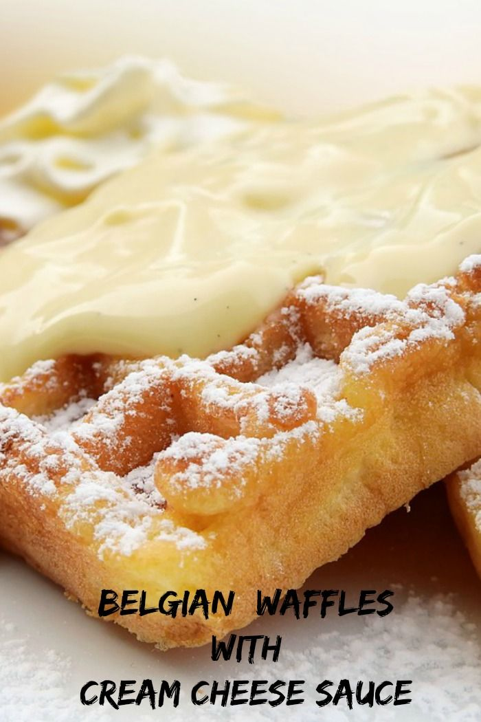 Belgian Waffles With Cream Cheese Sauce