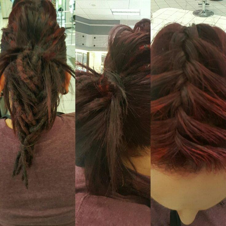 Bouffant braid with a fishtail dreadlock ponytail. | Bouffant, Ponytail, Hair