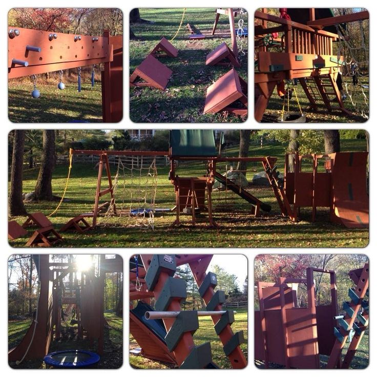 8 best my american ninja course images on pinterest for Kids home playground