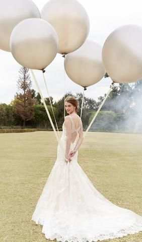 Try this beautiful wedding dress. From Bliss by Monique Lhuillier. Available at Schaffer's in Des Moines, Iowa. Wedding Dress Info: Bliss by Monique Lhuillier - STYLE BL16204