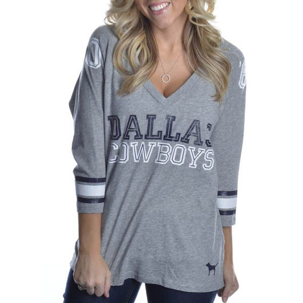 Dallas Cowboys PINK Slouchy Tee | Dallas Cowboys Clothing | Dallas Cowboys Store - Dallas Cowboys Pro Shop