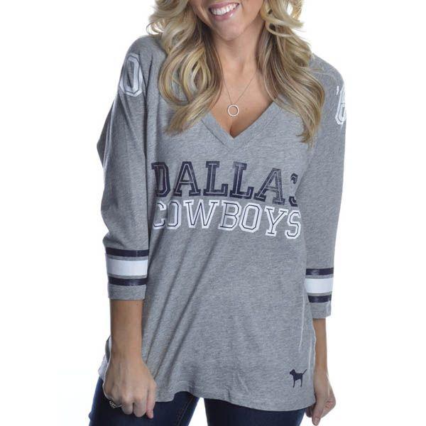 Dallas Cowboys PINK Slouchy Tee   Dallas Cowboys Clothing   Dallas Cowboys Store - Dallas Cowboys Pro Shop