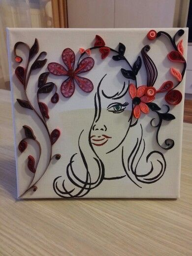 Quilling on canvas