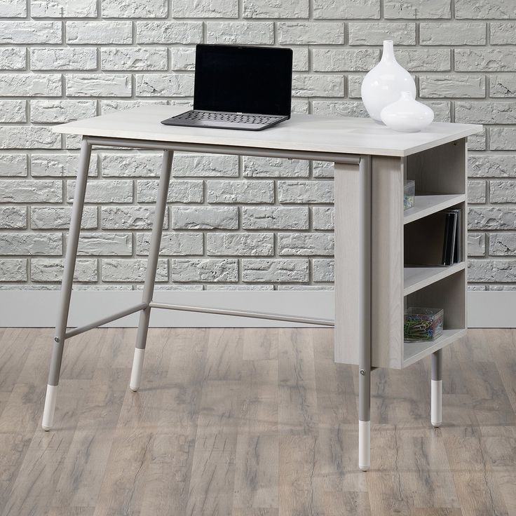 Sauder Woodworking Square One Grey Ash Desk | from hayneedle.com