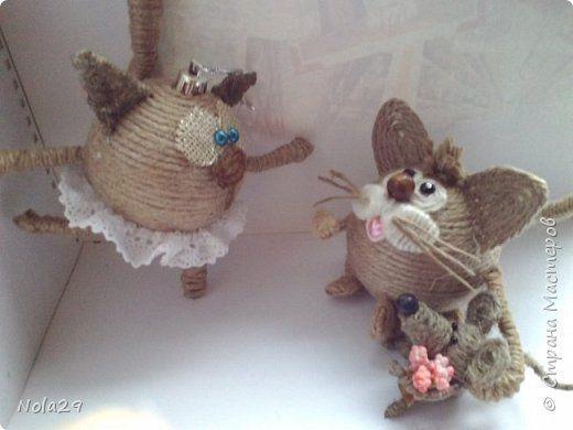 Поделка изделие Моделирование конструирование Кошка- балерина и другие поделки из шпагата Шпагат фото 7