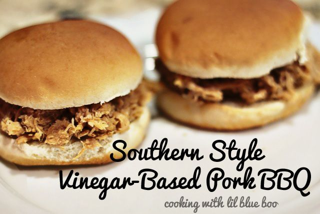 SOUTHERN STYLE VINEGAR-BASED PORK BBQ (SLOW COOKED)  I grew up knowing this a north Carolina BBQ..