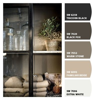 greige paint colors - Loving Black Fox for the bathroom