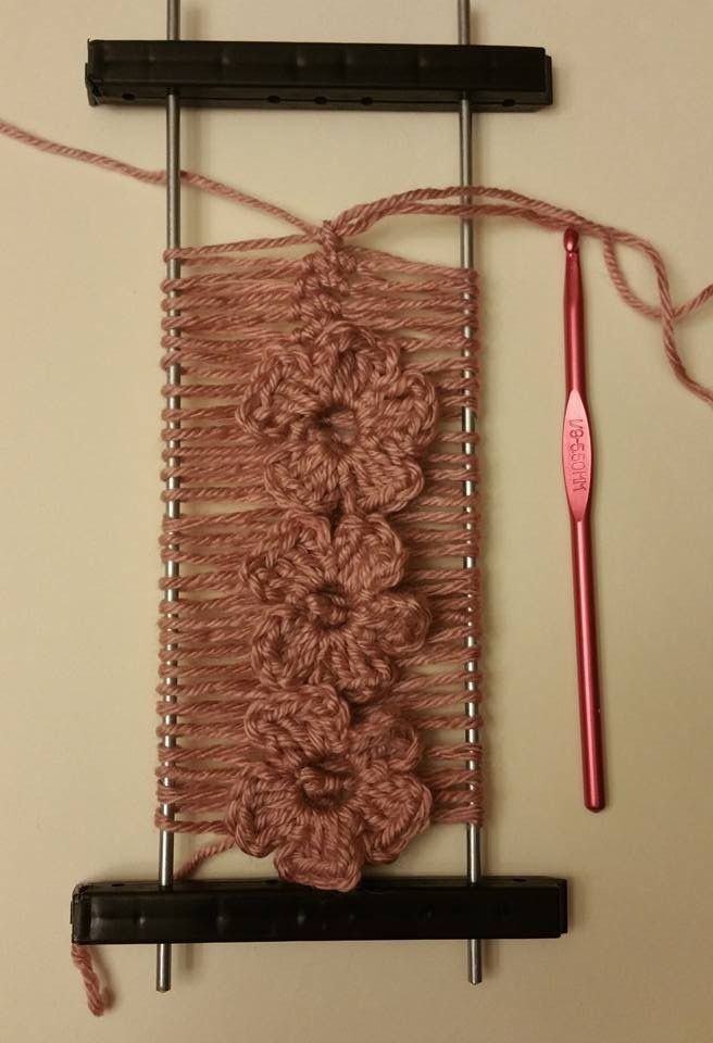 Hairpin lace with flowers
