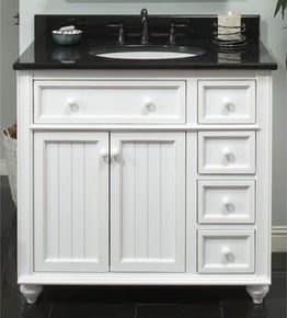 Small Bathroom Vanity Cabinets | Vanities, Cottage Style Bathroom Vanities, White Bathroom Vanities ...