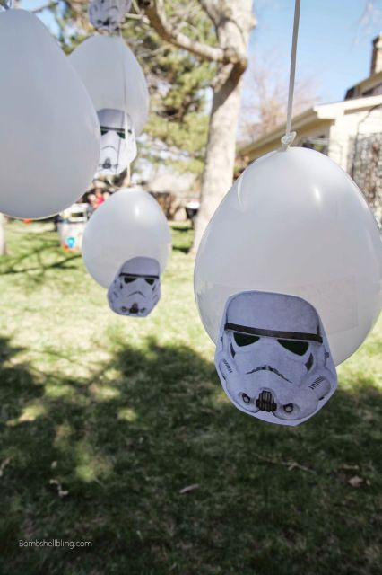 """Storm Trooper Forest"" and other Star Wars obstacle course and party games!  Love. #starwars #legos"