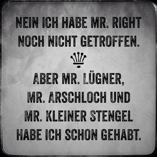 Wo ist Mr. Right?