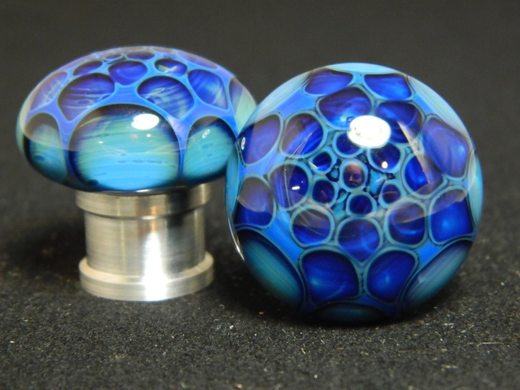 ocean foam honycomb glass drawer pull set of two by
