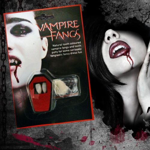 WHITE-FANGS-CAPS-TEETH-VAMPIRE-DRACULA-FANCY-DRESS-WITH-PUTTY-ADHESIVE-HALLOWEEN