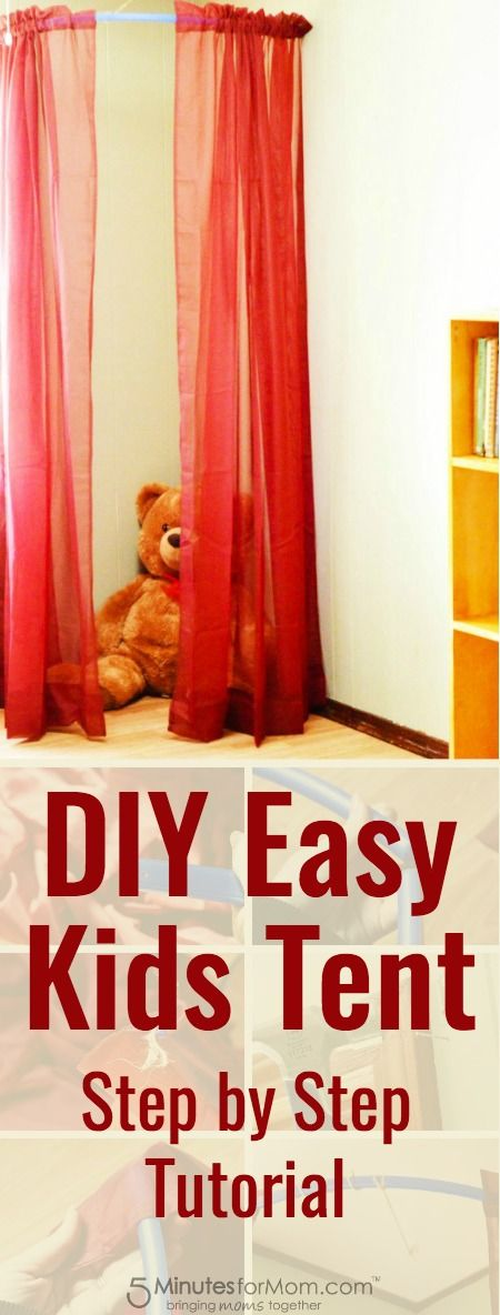Easy DIY Kids Tent - Step by step tutorial with photos for how to build a kids tent.