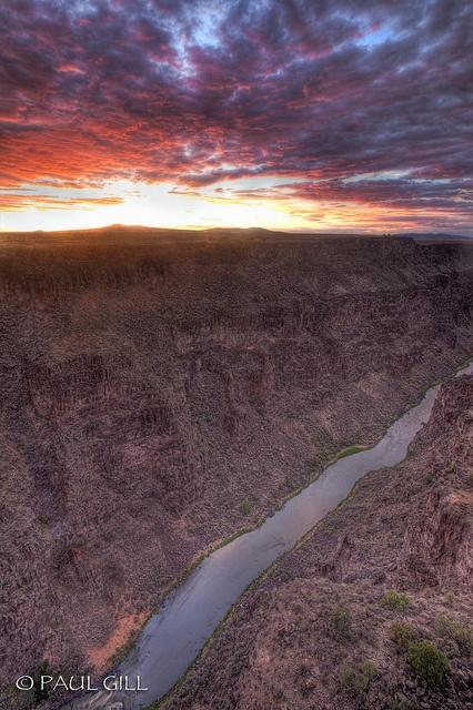 Rio Grande Gorge sunset, New Mexico.