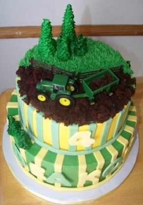 John Deere birthday cake By PTBUGZY1 on CakeCentral.com