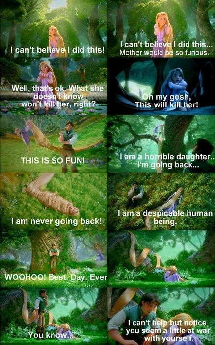 Probably my favorite part of Tangled. Such a cute movie