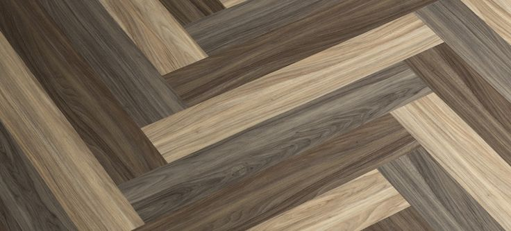 3 Color Herringbone Pattern Parterre Luxury Vinyl Plank