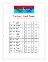 Vowel Articulation Data Sheet (also includes diphthongs). Send home with parents for