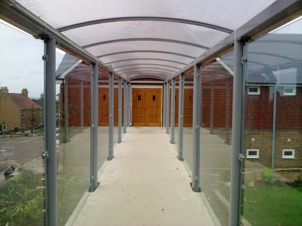 Glass Covered Walkways : Best images about covered walkways on pinterest