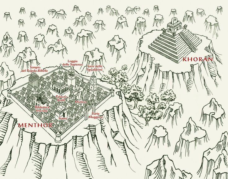 Marco Vaglieri, Menthor fantasy map, 2009