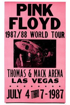 Pink Floyd  Las Vegas, 87-88 World Tour, July 4th 1987