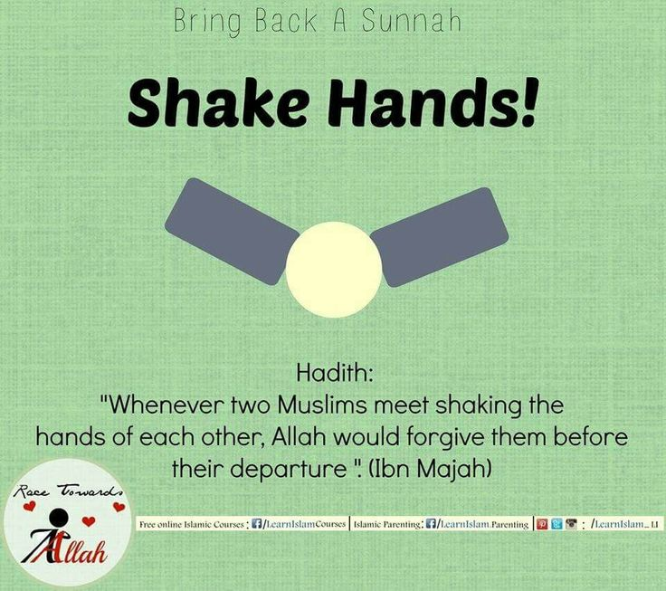 This practice is abandoned mainly by today's women, they prefer huggng or kissing rather then a simple shake hand we see in most colleges that girls greet each other by hugging or kissing each other when the Sunnah is to say Salam and shake Hands.   #shaking #sunnah #revive #learnislam #authentic #hadeeth