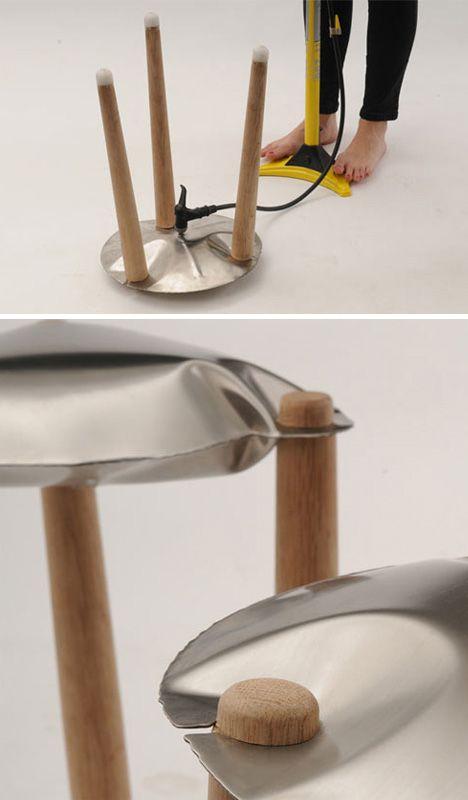 metal inflatable furniture details