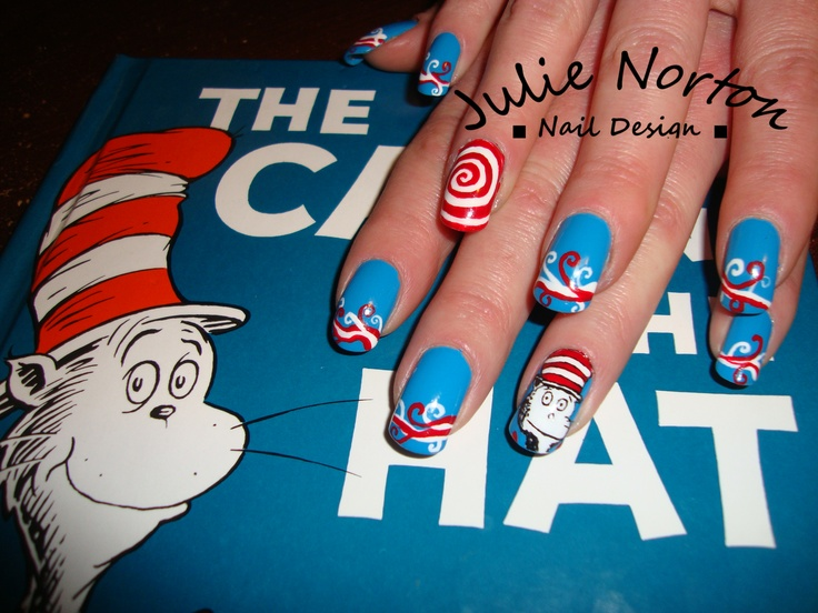 Cat In The Hat Nails Best Nail Designs 2018