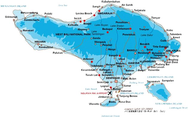 Bali, Island, map
